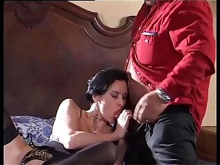 Sexy brunette banged by Roberto Malone's cock