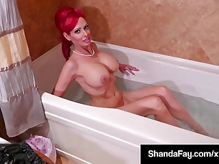 Canadian Cougar Shanda Fay Sucks & Fucks In Vintage Dress!