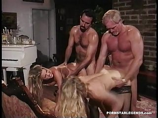 Two porn sluts fucked side by side doggystyle